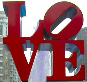 image of love sign in philly